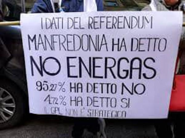ENERGAS A MANFREDONIA? NO, GRAZIE