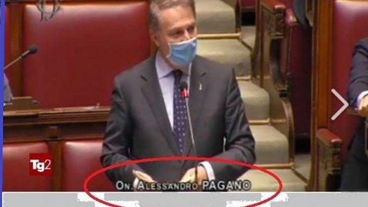 LA LEGA SI VERGOGNA DEL SUO DEPUTATO PAGANO. E IL TG2 ESEGUE: CENSURATE PAROLE ED APPARTENENZA.