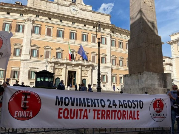 CHI HA PAURA DEL MOVIMENTO 24 AGOSTO PER L'EQUITA' TERRITORIALE?