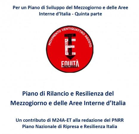 Proposta M24A-ET Piano di Rilancio e Resilienza del Mezzogiorno e Aree Interne